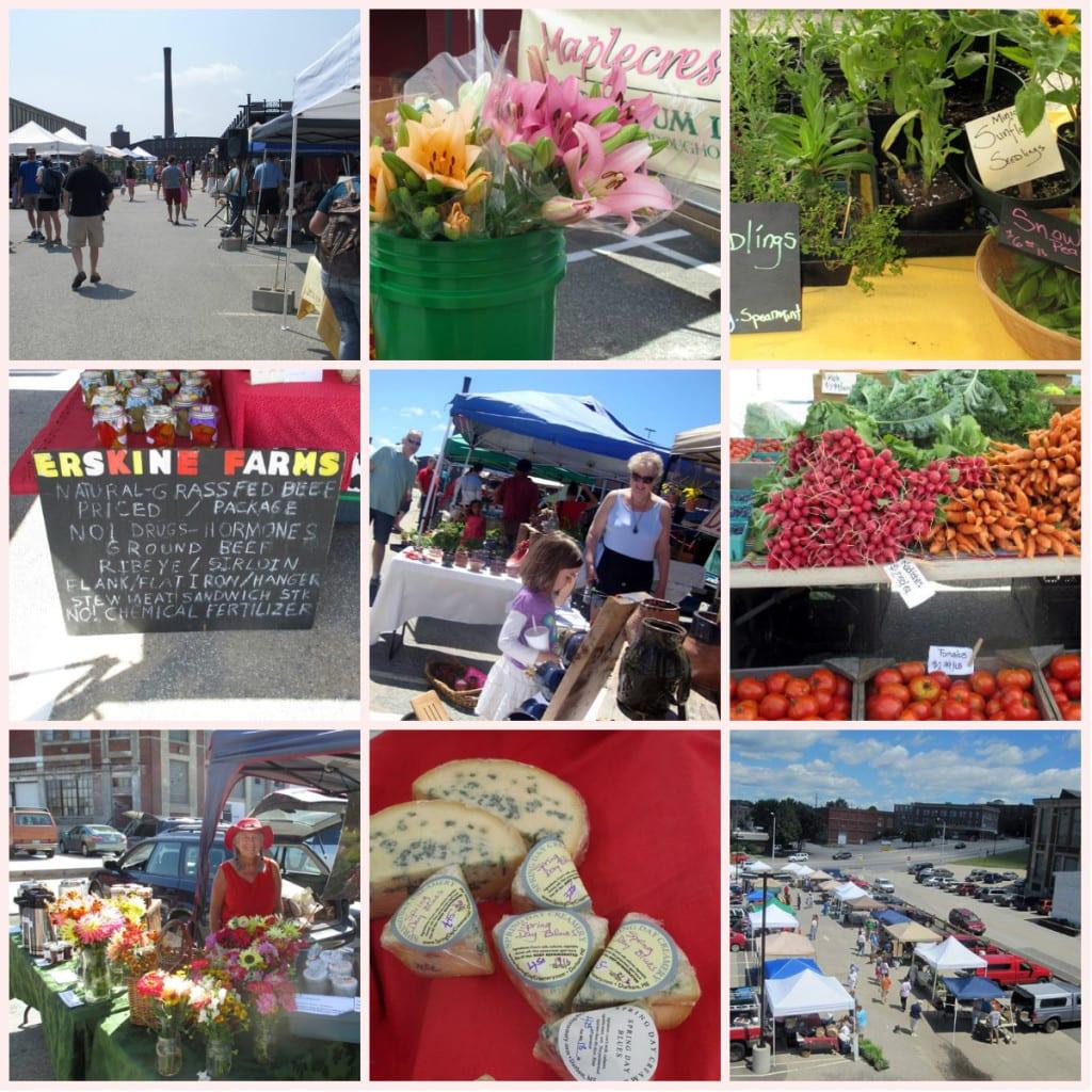 Lewiston Farmers' Market Collage