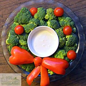 holiday veggie wreath